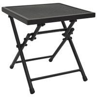 Składany stolik z siatką, 38x38x38 cm, stalowy, antracytowy