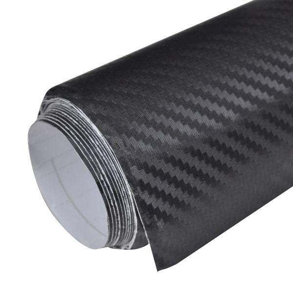 Naklejka samochodowa winyl/carbon 3D Czarna 152 x 200 cm zdjęcie 4