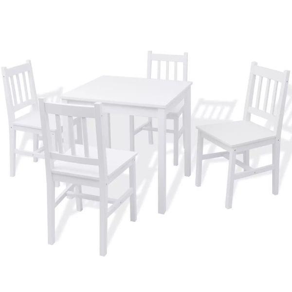 Meble Zestaw Mebli Jadalnianych Do Kuchni Stół Krzesła Drewno