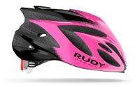 Kask rowerowy Rudy Project Rush Pink Fluo - Black (Shiny) S