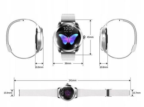 Smartwatch Damski srebrna stalową bransoleta!!!! na Arena.pl