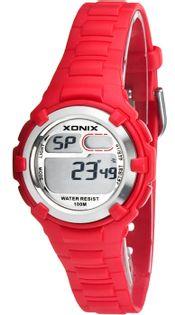 Xonix Damski zegarek, stoper, alarm, 2 x czas, WR 100M, podświetlenie, antyalergiczny