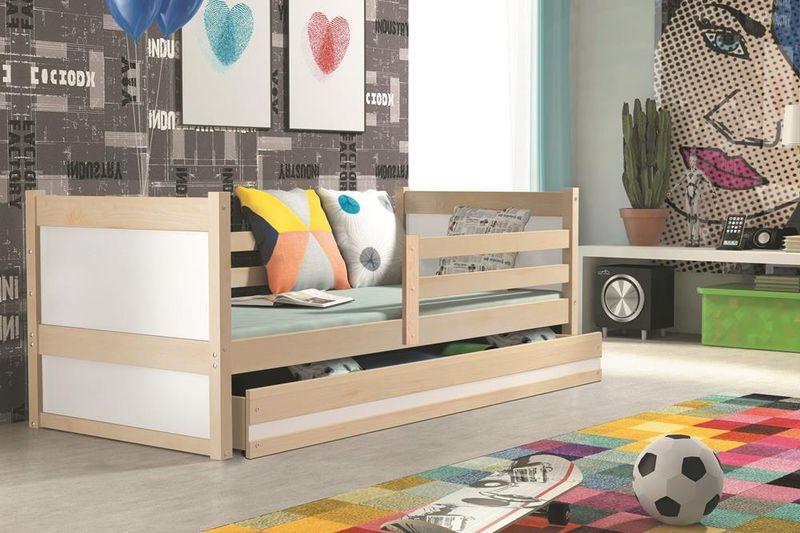 Łóżko RICO dla dzieci pojedyncze dla jednej osoby 190x80 + MATERAC zdjęcie 9