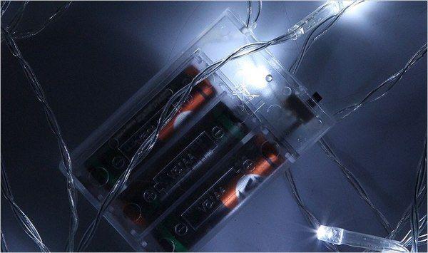 Lampki świąteczne 30 LED na baterie 3m zimny biały Joylight zdjęcie 5