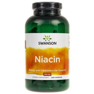 Swanson Niacyna (Witamina B3) 500mg - 250 kapsułek