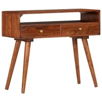 Stolik Typu Konsola, 90 X 35 X 76 Cm, Lite Drewno Akacjowe