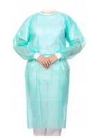 Fartuch jednorazowy z włókniny zielony rozmiar XL włókninowy mankiet