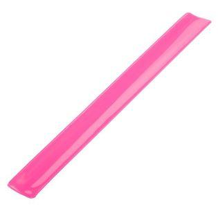 Opaska odblaskowa 30 cm, różowy