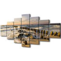 Obraz Na Ścianę 210X100 Zachód Słońca Nad Morską P