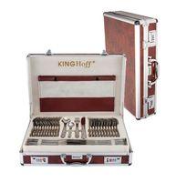 Komplet sztućców w walizce KINGHOFF 72 ELE. Satyna KH-3554