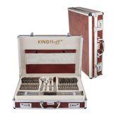 Komplet sztućców w walizce KINGHOFF 72 ELE. Satyna KH-3558