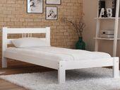 Łóżko 90x200 Białe Drewniane Wysokie Producent F3 Magnat