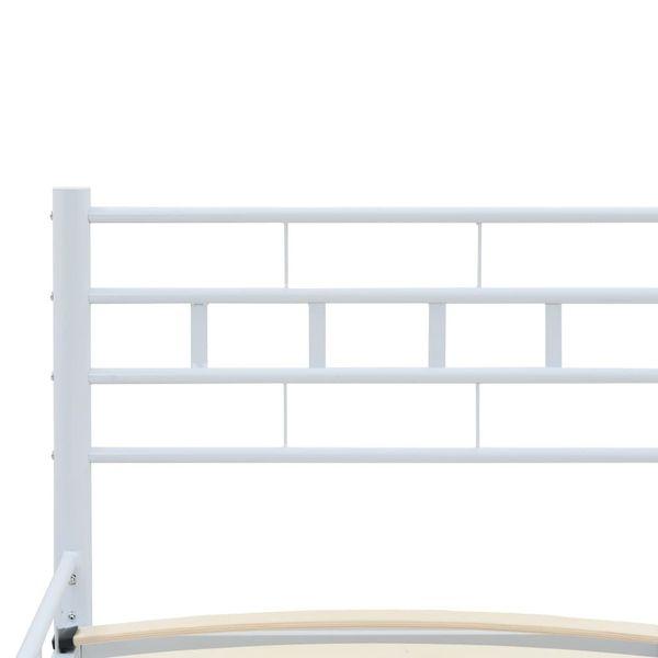 Łóżko Z Materacem Memory, Białe, Metalowe, 140X200 Cm zdjęcie 7