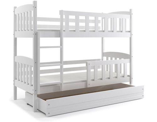 Łóżko Kubuś piętrowe dziecięce 200x90 dla dzieci + SZUFLADA na Arena.pl