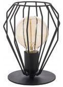 Lampa Biurkowa Stołowa Druciana Czarna Brylant E27
