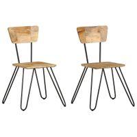 Krzesła stołowe 2 szt. lite drewno mango VidaXL