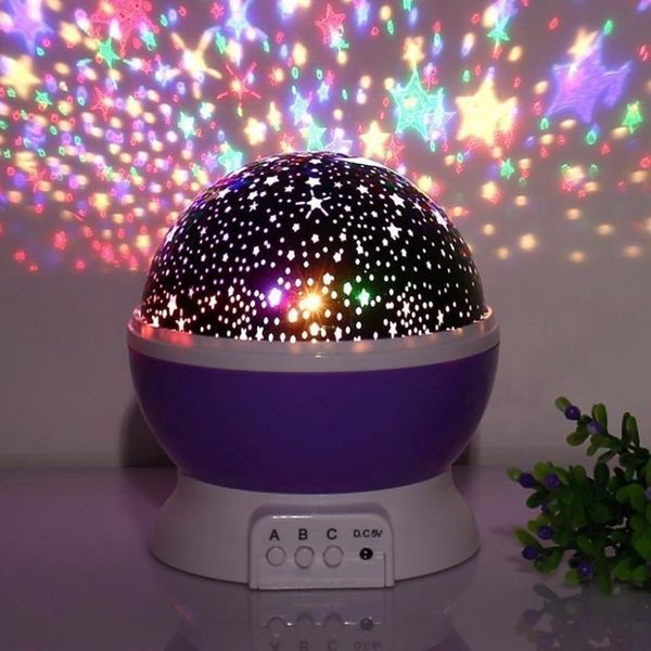 Lampka nocna dziecięca projektor gwiazd nieba obrotowa Y67 zdjęcie 5