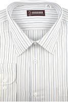 Koszula Męska Konsul biała w paski na długi rękaw w kroju REGULAR A198 L 40 176/182