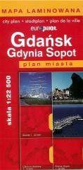 Plan Miasta EuroPilot. Gdańsk Gdynia Sopot laminat praca zbiorowa