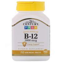 21st Century Witamina B12 5000 mcg 110 pastylek