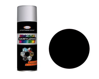 Wesco Lakier Akrylowy Czarny matowy RAL9005 Spray