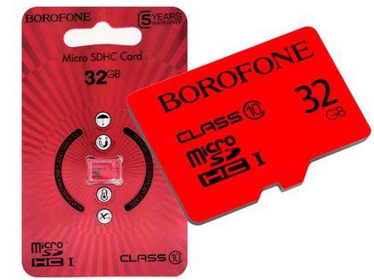 KARTA PAMIĘCI MICROSD SDHC BOROFONE 32GB CLASS 10
