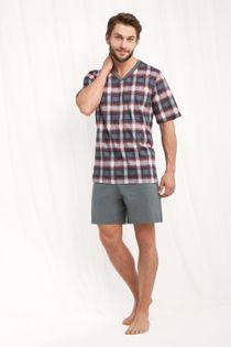 Piżama męska LUNA kod 793 w serek grafitowy roz. XL