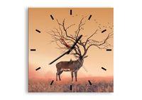 Zegar Ścienny - Jeleń Na Rykowisku - 40X40 Cm - C3Ac40X40-3127