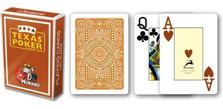Modiano 2 rogi 100% karty plastikowe - brązowe I32118