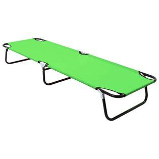 Lumarko Składany leżak, stal, zielony