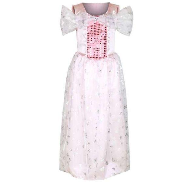 strój KSIĘŻNICZKI różowa KRÓLEWNA sukienka 130/140 zdjęcie 1