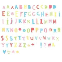 A Little Lovely Company - Litery do Lightboxa zestaw Funky Colour