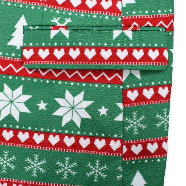 8856015f16a5e Świąteczny garnitur męski z krawatem, 2-częściowy, 52, zielony zdjęcie 6