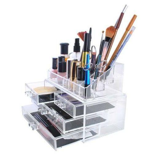 Organizer na kosmetyki stojak akrylowy szkatułka na biżuterię zdjęcie 6