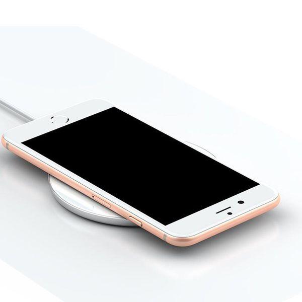 Baseus Simple - Bezprzewodowa ładowarka indukcyjna Qi do iPhone i Android 10W (biały) zdjęcie 6