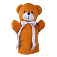 Pacynka miś Teddy Bear, brązowy/biały R73903.10