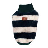 Elastyczny, mięciutki pulowerek w paski, zielony L