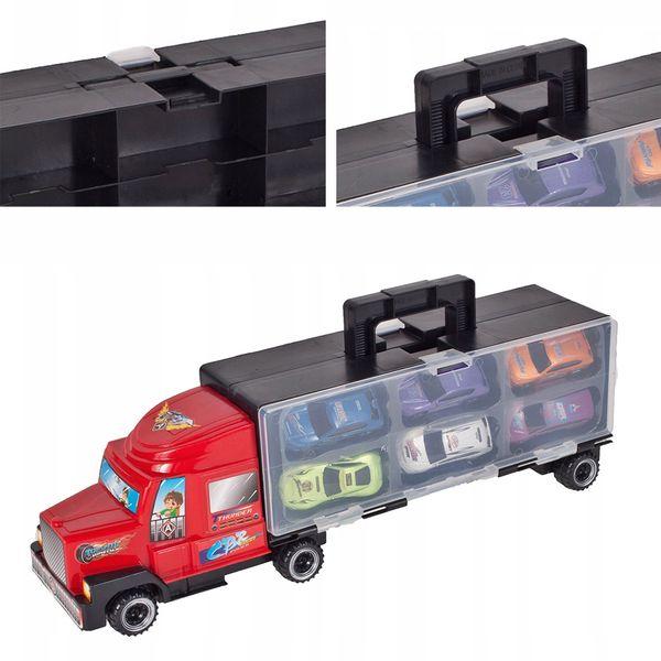 Ciężarówka z walizką z metalowymi autami TIR Y187 zdjęcie 10
