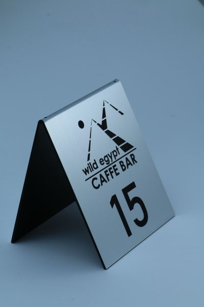 numer numerki na stolik stojak do restauracji rezerwacja na stół logo na Arena.pl