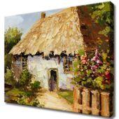 Obraz Na Ścianę 50X40 Wiejski Domek Wiejski Domek