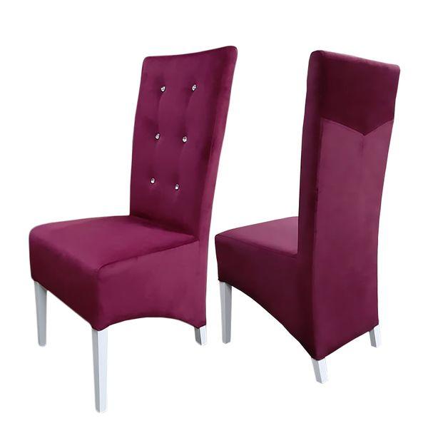 Nowoczesne Krzesła Tapicerowane Krzesło Drewniane Pikowane Trend