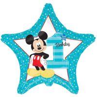 Balon foliowy Mickey Mouse ROCZEK 1 urodziny blue