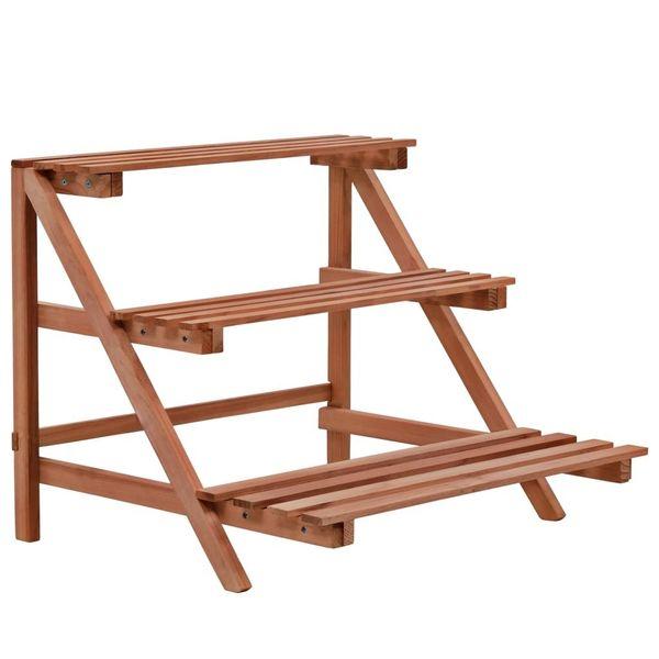 3-Piętrowy Regał Na Rośliny Z Drewna Cedrowego, 48 X 45 X 40 Cm zdjęcie 1