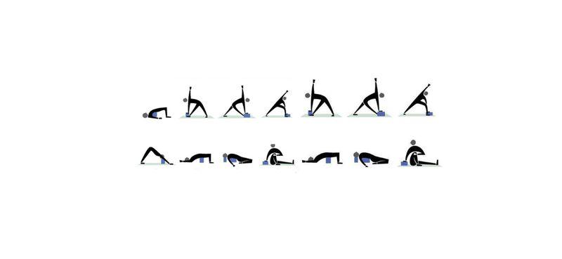 Klocek bloczek do Jogi yoga do ćwiczeń Blue zdjęcie 3