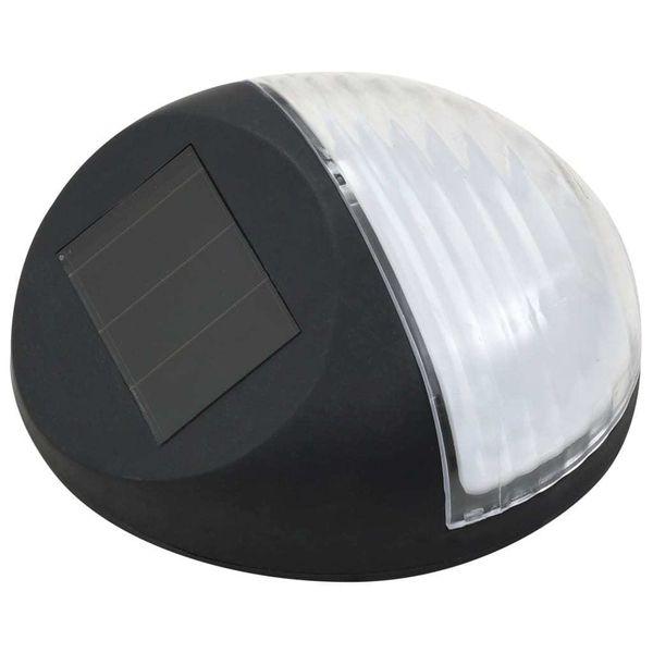 Ścienne Lampy Solarne Led Na Zewnątrz, 12 Szt, Okrągłe, Czarne zdjęcie 3