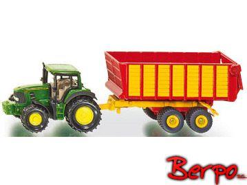 Siku 1650 Traktor John Deere z przyczepą zdjęcie 1