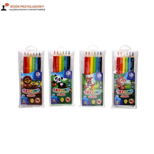 Kredki ołówkowe 6 kolorów trójkątne Jumbo Astra/Astrino 312115003 zdjęcie 3
