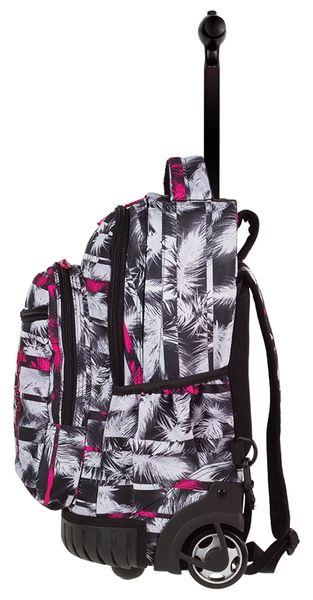 f9898ff79ba9c Plecak CoolPack SWIFT na kółkach biało różowe palmy na czanym tle, PALM  TREES + gratis
