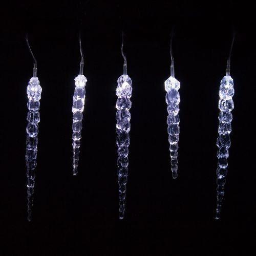 Lampki ogrodowe w kształcie sopli 40 LED, zimne białe wew./zew. zdjęcie 1