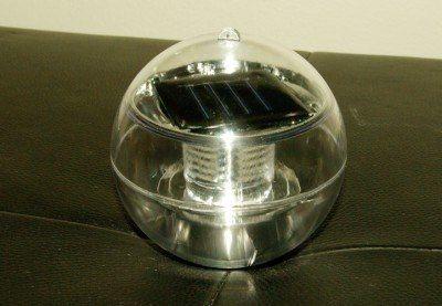Lampa solarna biała LED, lampion ogrodowy w kształcie kuli zdjęcie 5